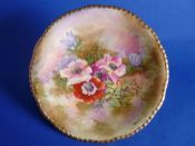 Royal Winton Hand Painted 'Anemone' Cabinet Plate signed Z. Kas c1945